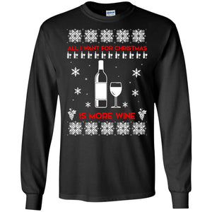 All I Want For Christmas is Wine Ugly sweater