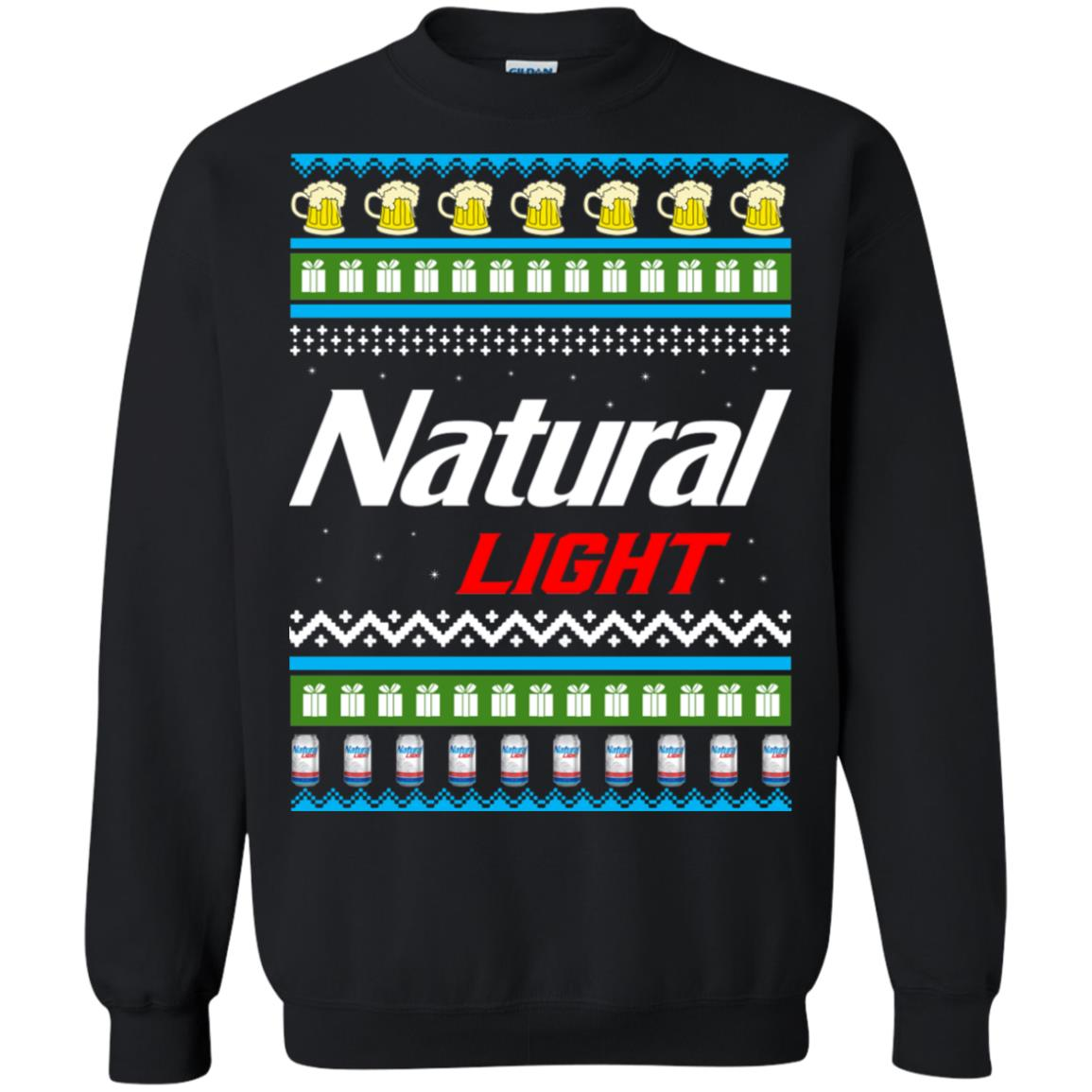 Natural Light Christmas Sweater Long Sleeve Hoodie T Shirt