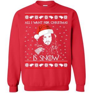 All I Want for Christmas is Snow ugly sweater