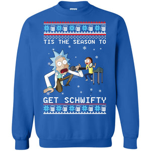 Rick and Morty Tis the season to get Get Schwifty Christmas sweater