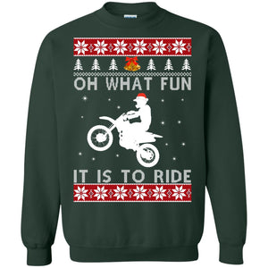 Motocross oh what fun it is to ride Christmas sweater