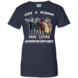Just a woman who loves a Horror movies - Dovetees.com