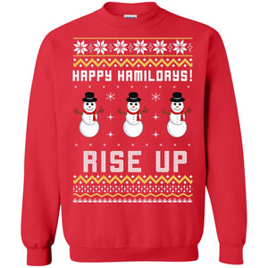 Happy Hamildays rise up Christmas sweater