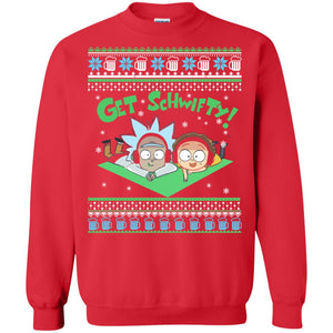 Rick and morty Get Schwifty Christmas sweater