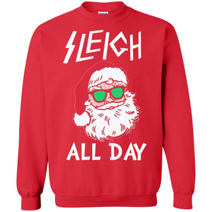 Santa sleigh all day Christmas sweater