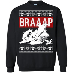 Braaap Motocross Ugly Christmas Sweater