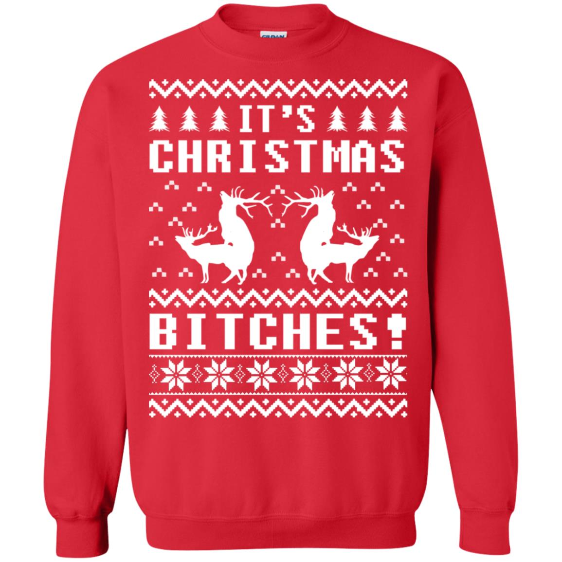 3d516c01b Humping Reindeer It's Christmas Bitches Ugly Sweater, long sleeve ...