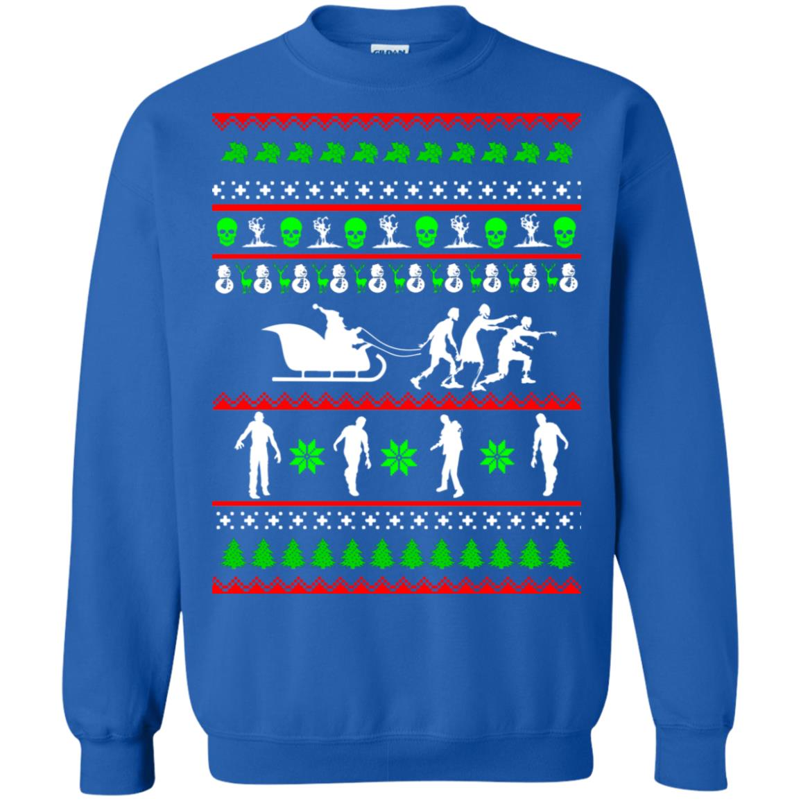 Zombie Christmas sweater, long sleeve, t-shirt, hoodie - Dovetees.com