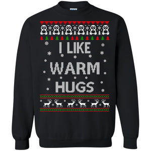 I like warm hugs Christmas ugly sweater