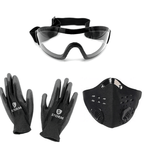 PPE Kit - Goggles, Mask, and Gloves - Storm Packs