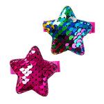 SEQUIN STAR CLIPS - FUSCIA & RAINBOW