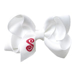 SMALL BOW - SNOW WHITE INITIAL