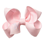 SMALL BOW - PRETTY PINK INITIAL