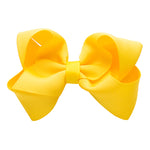 Canary Yellow Medium Bow Clip for Girls