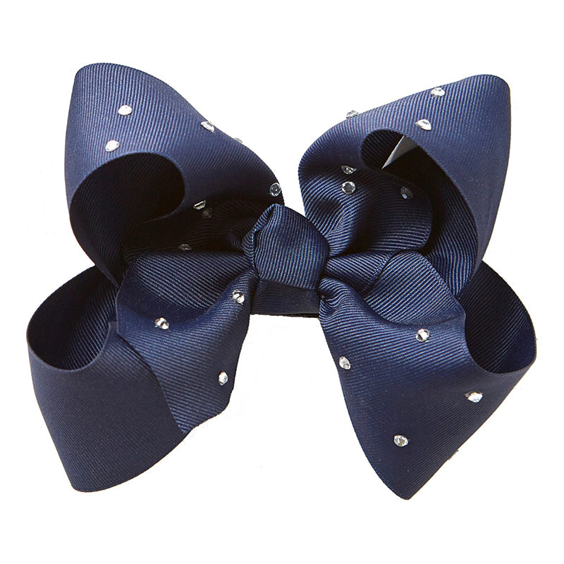 LARGE BOW - STARRY NIGHT DIAMANTE