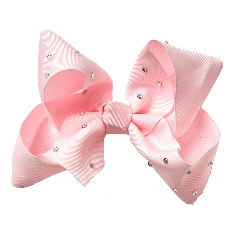 LARGE BOW - FAIRY FLOSS DIAMANTE