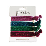 GLITTER HAIR TIES - CROWN JEWEL