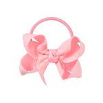 SMALL + ELASTIC BOW - PALE PINK