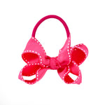 SMALL + ELASTIC BOW - FUCHSIA