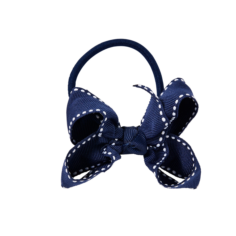 SMALL + ELASTIC BOW - NAVY