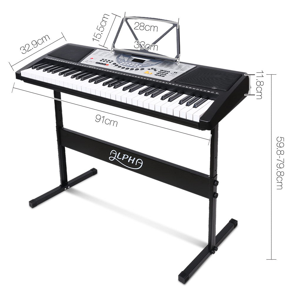 Alpha 61 Key LED Electronic Keyboard