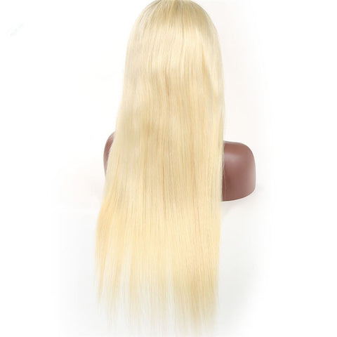 Julee Hair 613# Full Lace Wig Straight Human Hair Wigs Pre Plucked Virgin 613# Hair