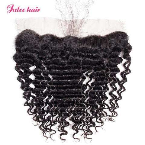 Top Rating 13*4 Lace Frontal Deep Wave Virgin Human Hair Closure Piece