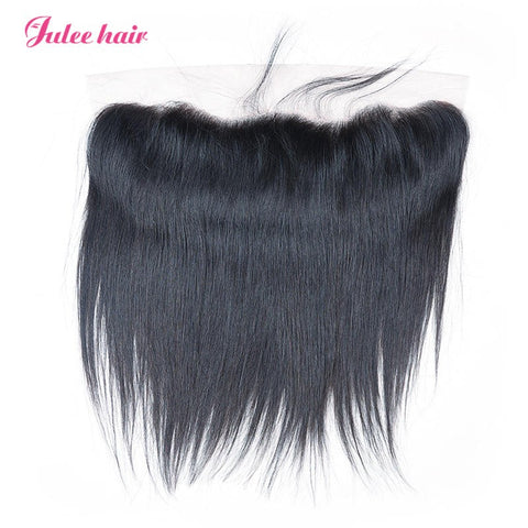 High Quality Virgin Brazilian Straight Hair 13*4 Lace Frontal Closure With Baby Hair