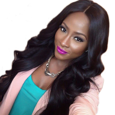 Julee Hair Lace Frontal Wig 150% Density Body Wave Human Hair Wigs Pre Plucked Virgin Hair
