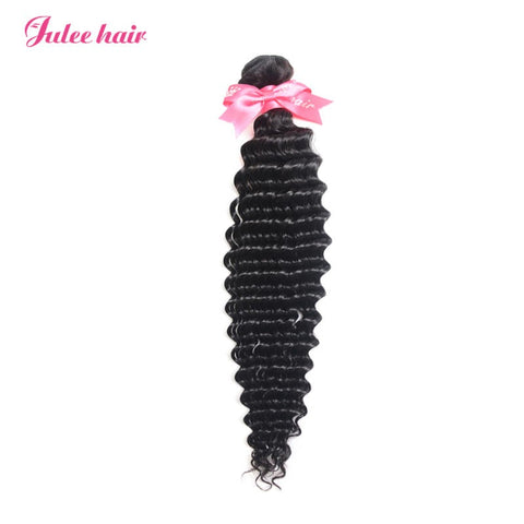 Julee Hair Big Discount Virgin Deep Wave Hair 1 Bundles Deal 1b#