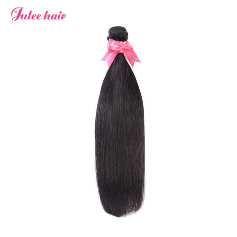 Julee Hair Virgin Silky Straight Human Hair 1 Bundles Deal 1b#