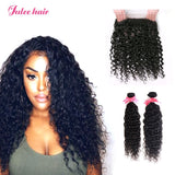 2 Bundles Malaysain Natural Wave With 360 Lace Frontal,Ear To Ear 360 Frontal