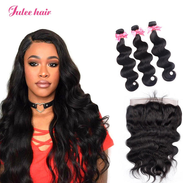 Best Rated Brazilian Virgin Human Body Wave Hair 3 Bundles With 360 Lace Frontal
