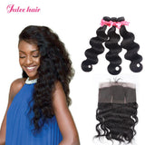 New Arrival 360 Lace Frontal With Virgin Malaysian Human Hair Body Wave 3 Bundles