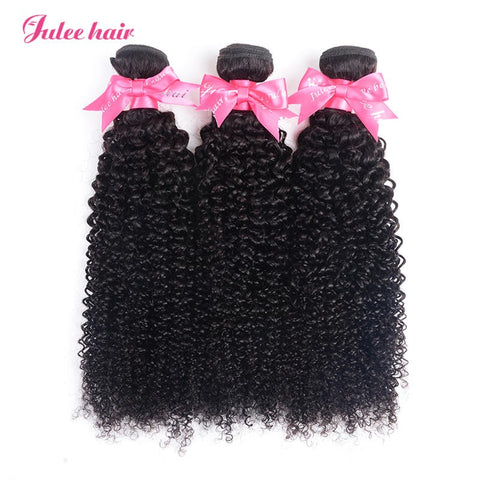 Julee Hair Virgin Brazilian Curly Hair 3 Bundles Deal Free Shipping 1b#