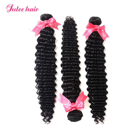 High Quality Deep Wave Malaysian Virgin Hair 3 Bundles
