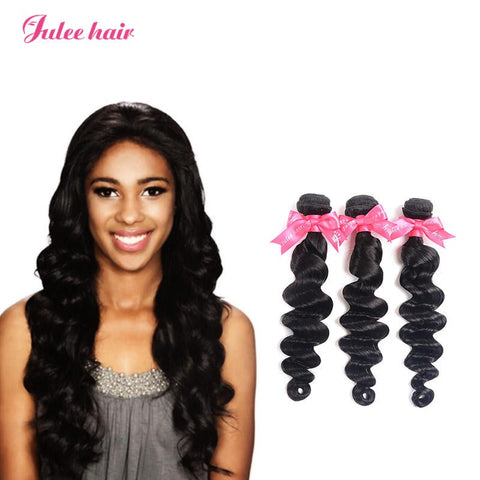 Most Popular Virgin Peruvian Loose Deep Wave Hair 3 Bundles
