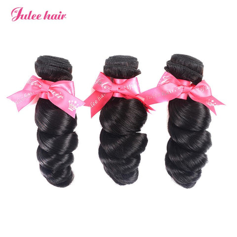 Malaysian Loose Wave Human Virgin Hair 3 Bundles Deal