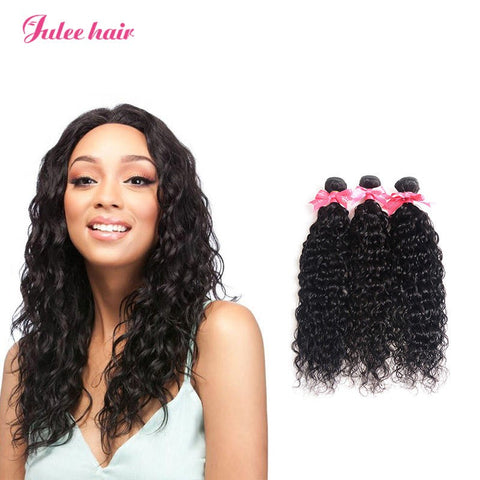 Julee Hair Brazilian Virgin Natural Wave Weave 3 Bundles Deal 1b#