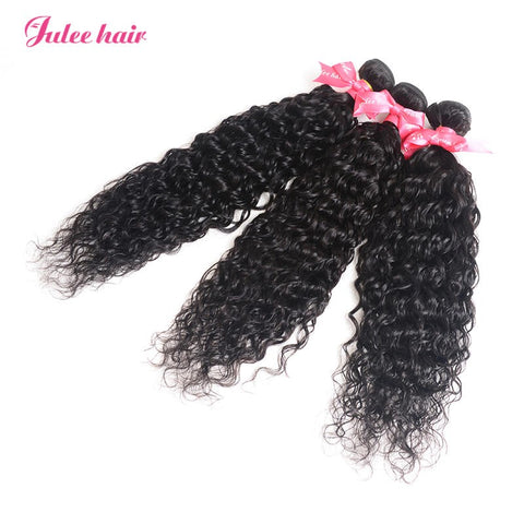 8A Grade Natural Wave Malaysian Hair 3 Bundles Wet and Wavy