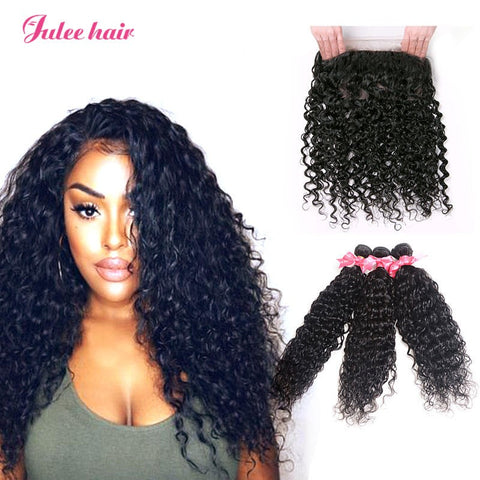Top Rating 360 Lace Frontal With Natural Wave 3 Bundles Brazilian Virgin Human Hair