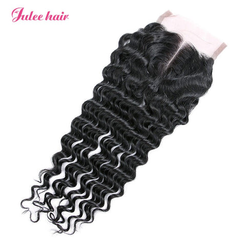 Best Selling Deep Wave Hair Closures 4*4 Lace Closure Hair Piece