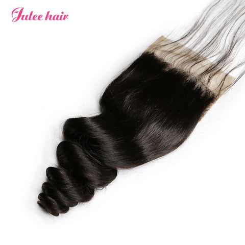 Best Selling Virgin Loose Wave Hair Closures 4*4 Lace Closure Hair Piece