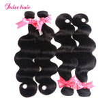 Indian Body Wave Hair 4 Bundles With Lace Closure 4*4
