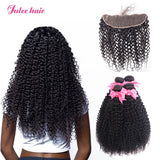 Virgin Malaysian Curly Hair 4 Bundles With 13*4 Lace Frontal Ear To Ear
