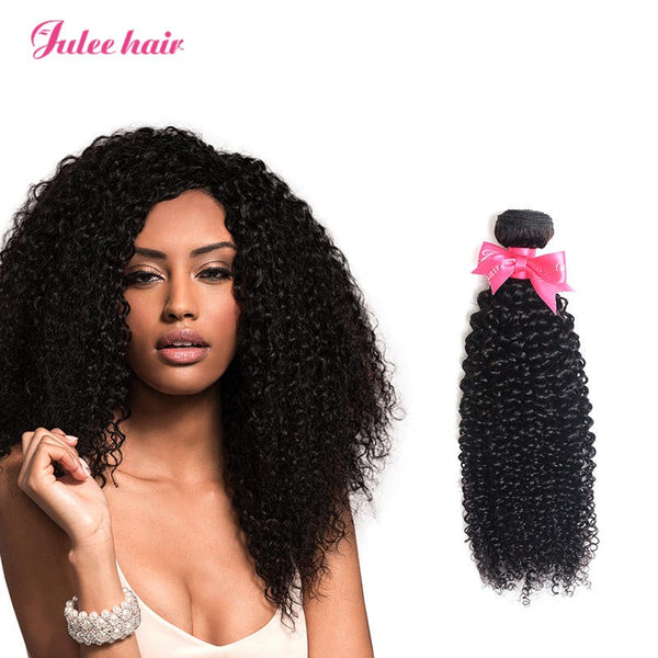 Julee Hair Virgin Brazilian Curly Hair 4 Bundles Deal For Hair Weave 1b#