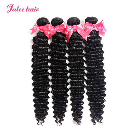 100% Virgin Indian Hair Deep Wave Human Hair 4 Bundles For Sale