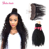 Famous Malaysian Lace Frontal 13*4 With Deep Wave 4 Bundles Lace Frontal Closure With Baby Hair