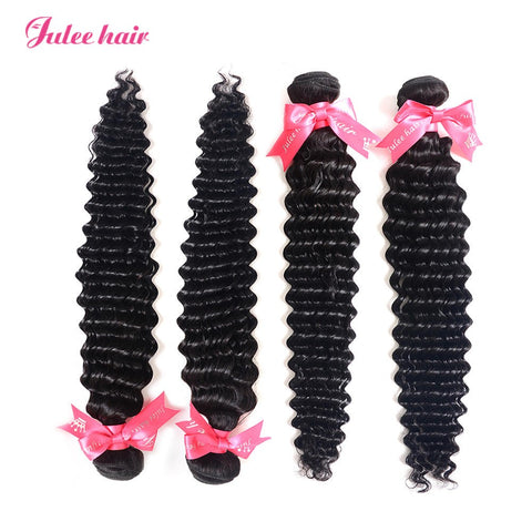 100% Human Virgin Deep Wave 4 Bundles Of Peruvian Hair