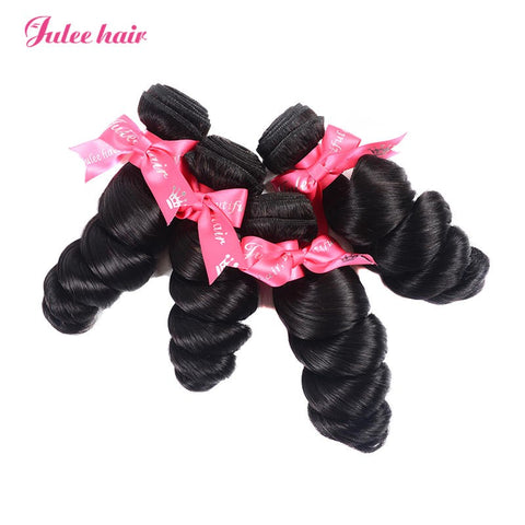 Featured Indian Hair 4 Bundles Loose Wave 100% Virgin Human Hair